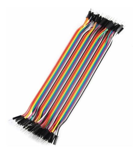 Cables Para Protoboard, 20 Cm Macho-macho 20 Unidades