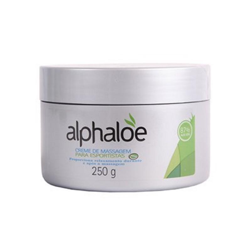 Creme Massagem p/ Esportistas 87% Aloe Vera - 250g Alphaloe