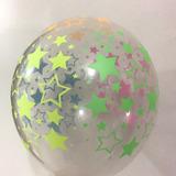 globo estrellas fluo desinflado apto helio