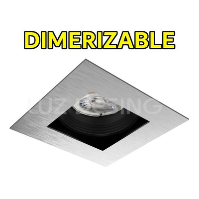 Spot Embutir Antideslumbrante Dimerizable Led 7w Acero Gu10