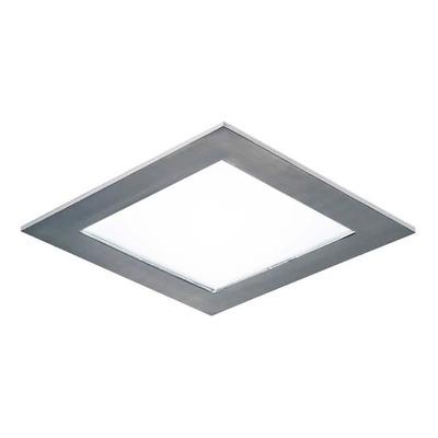 X10 Plafon Embutir Led 18w Acero Cuadrado Panel  Luz Desing