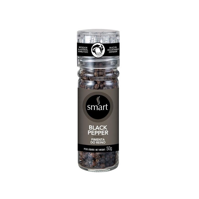 Pimenta do Reino (Black Pepper) com Moedor - 50g - Smart