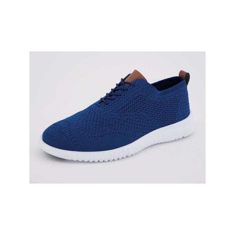 Sneakers azules lengüeta miel 018384