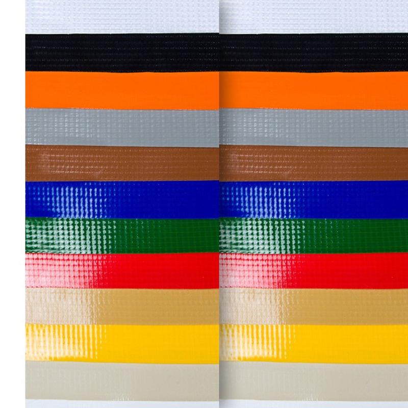 Lona para toldo Unilite preta  avesso da mesma cor (440gr) larg. 1,41 m