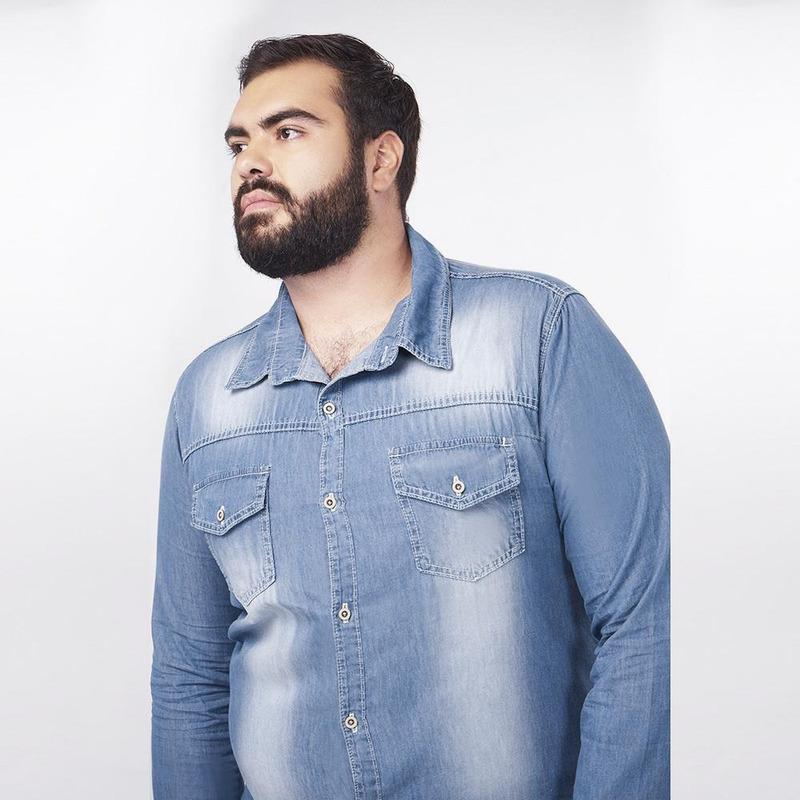 Camisa De Mezclilla Con Manga Larga 019247