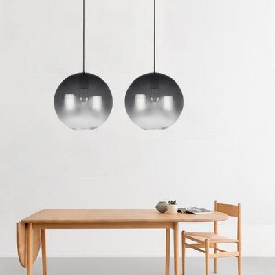 Colgante Globo 1 Luz Negro Aarhus M Moderno Apto Led Cie