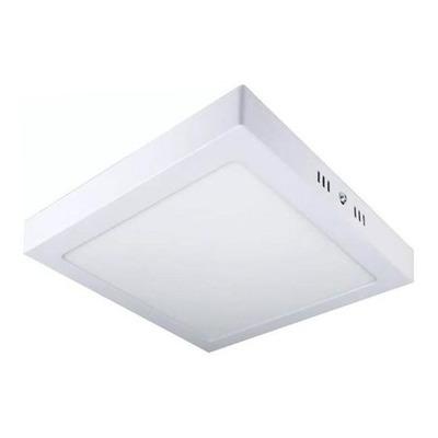 Plafon Led 18w Cuadrado Blanco Luz Exterior Aplicar Sf