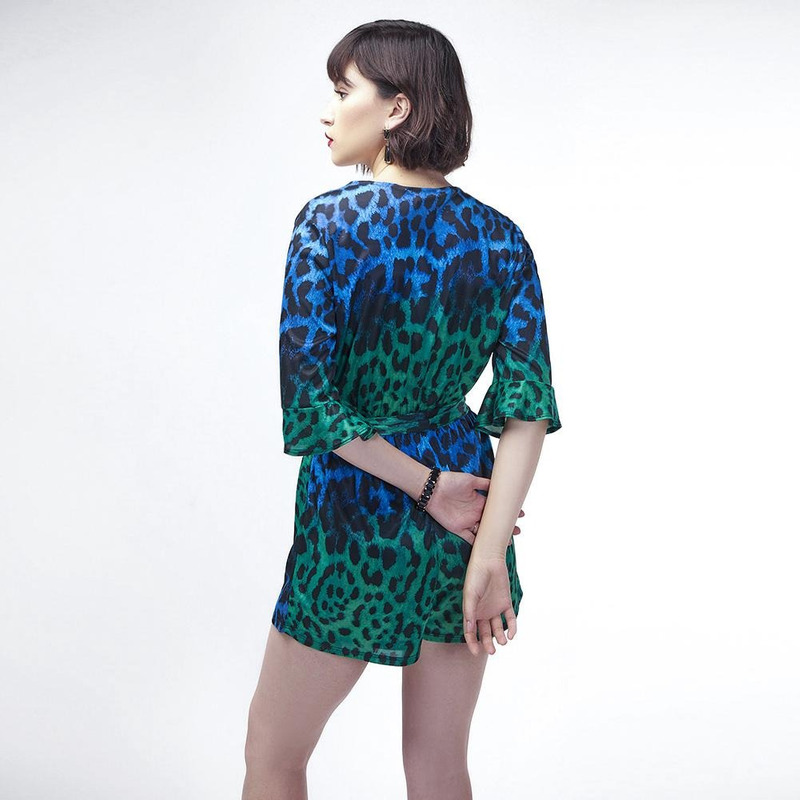 Conjunto Azul Animal Print 019435