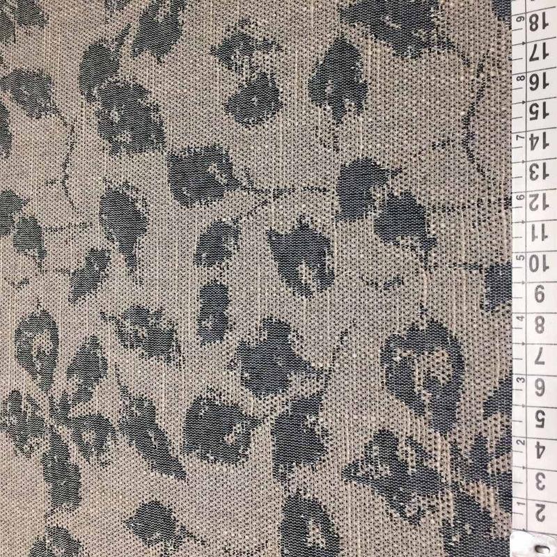 Tecido para estofado linho folhas rústico  Linen  24