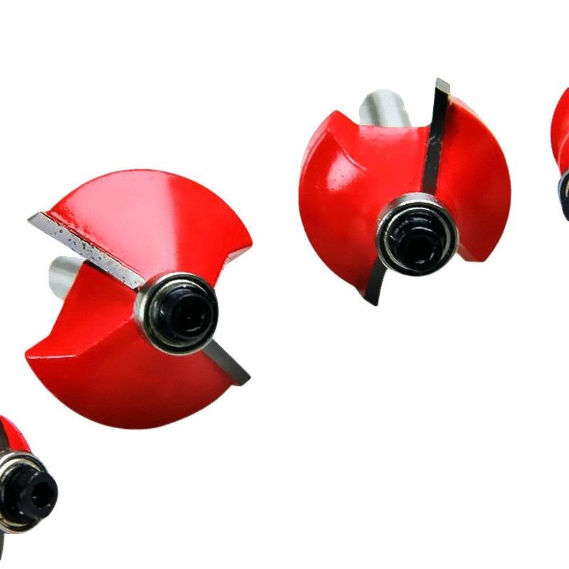 "Kit de 6 Fresas para Madeira Haste de 1/4"" CQT006 - US Tools"