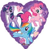 globo my little pony corazon 45cm desinflado apto helio