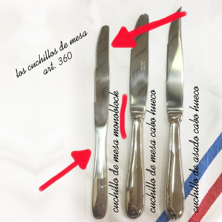 cuchillo de mesa monoblock x 10 doc