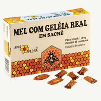 Mel com Geleia Real - 36 Saches 144g - Apis Flora