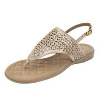 Sandalia Oro Con Piedras 020854