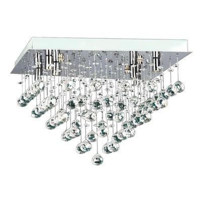 Plafon Estratos 40x40 Cairel Cristal 6 Luces Led Incluidas A