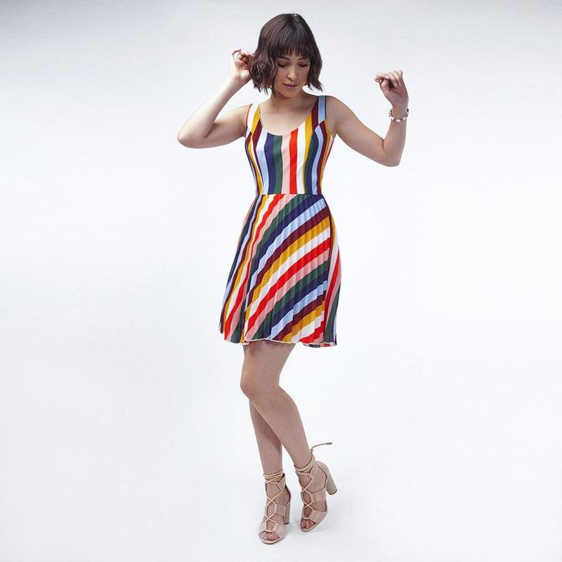 Vestido Multicolor De Tirantes 022695
