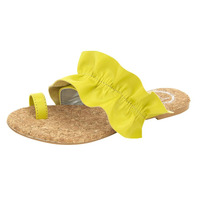 Sandalia De Piso Amarilla Con Olanes 020921