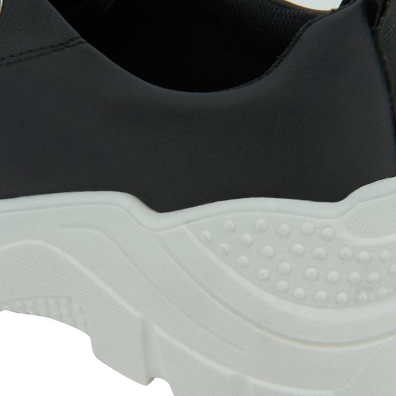 Sneakers Negro Con Blanco 020873