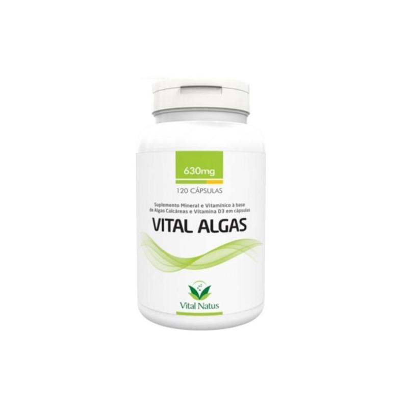 Vital Algas - 120 Capsulas de 630mg - Vital Natus