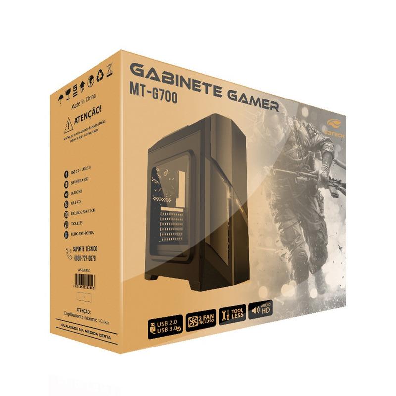 GABINETE GAME SEM FONTE C3TECH MT-G700BK PRETO