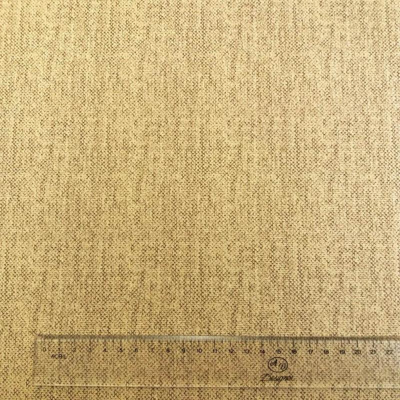 Tecido veludo para decoração caqui com marrom Larg. 1,40 m