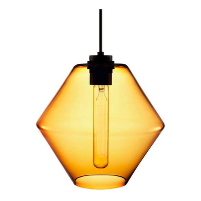 Colgante 1 Luz Trip Ambar Apto Led Vidrio Deco Moderno Cie