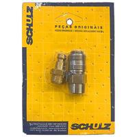 "Kit Conector de Engate Rápido 1/4"" Macho com 1"" para Compressor - 83012550 - Schulz"
