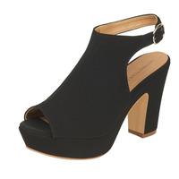 Sandalia tacón negra 004619