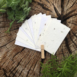 250 Tarjetas/Tags 8x5 cm (Corte Recto) - Papel Plantable ...