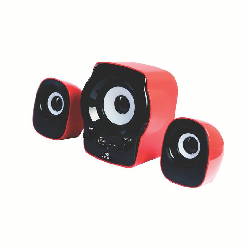 CAIXA DE SOM SPEAKER 2.1 FM SD USB C3TECH SP-10 RD VERMELHO