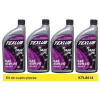 Aceite Transmision Texlub GL5 SAE 85W140 Kit 4p de 946ml