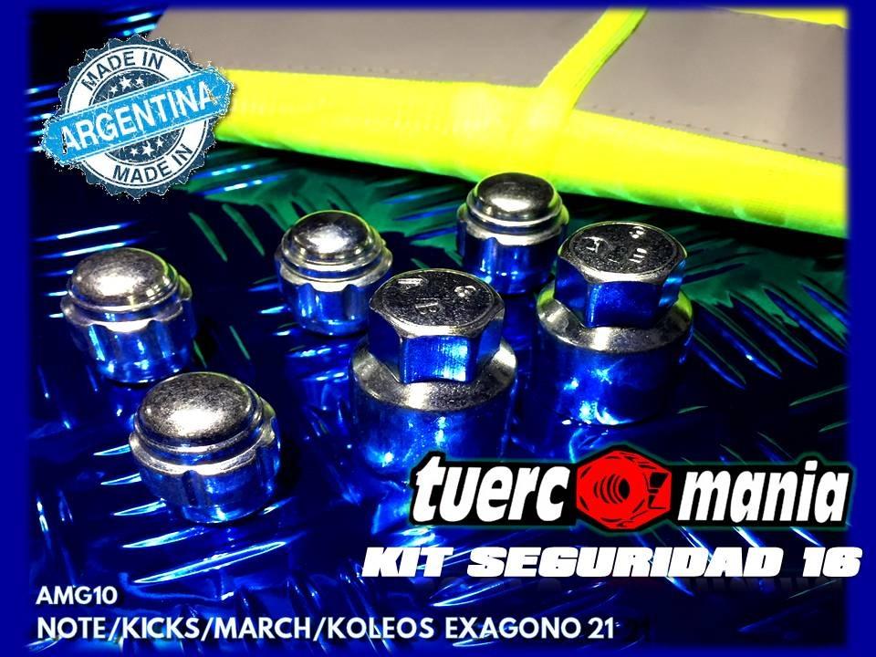 Tuerca Antirrobo Kicks, Koleos, March Kit 16