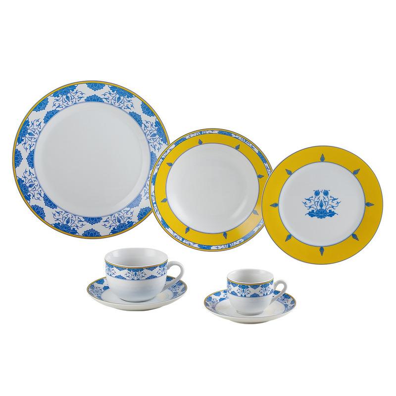 Jogo de Jantar em Porcelana 42 Pecas Amalfi- Wolff 31017181