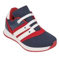 Sneakers azules franjas blancas 013532