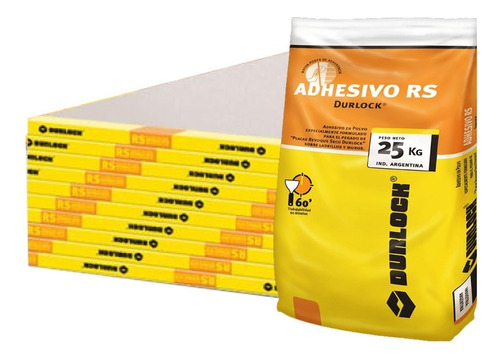 Kit 3 Placas Revoque Seco 120x260 Durlock + Pegamento X 25kg