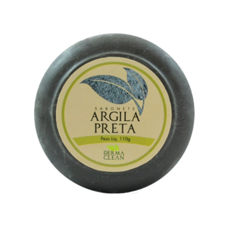 Sabonete Redondo de Argila Preta - 110g - Dermaclean
