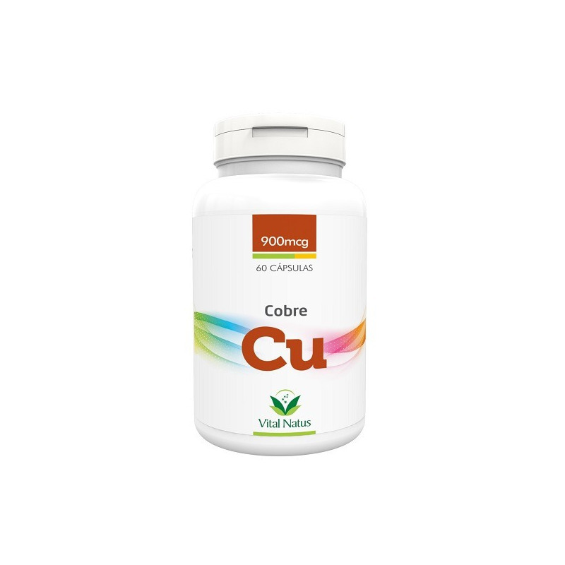 Cobre (Cu) - 60 capsulas 900mcg - Vital Natus