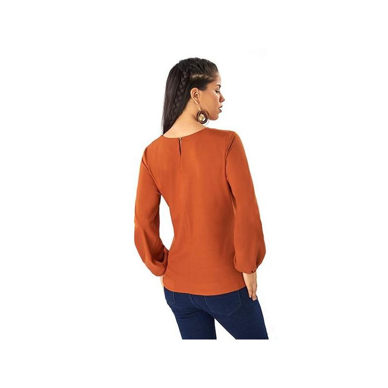 Blusa terracota moño lateral 014368
