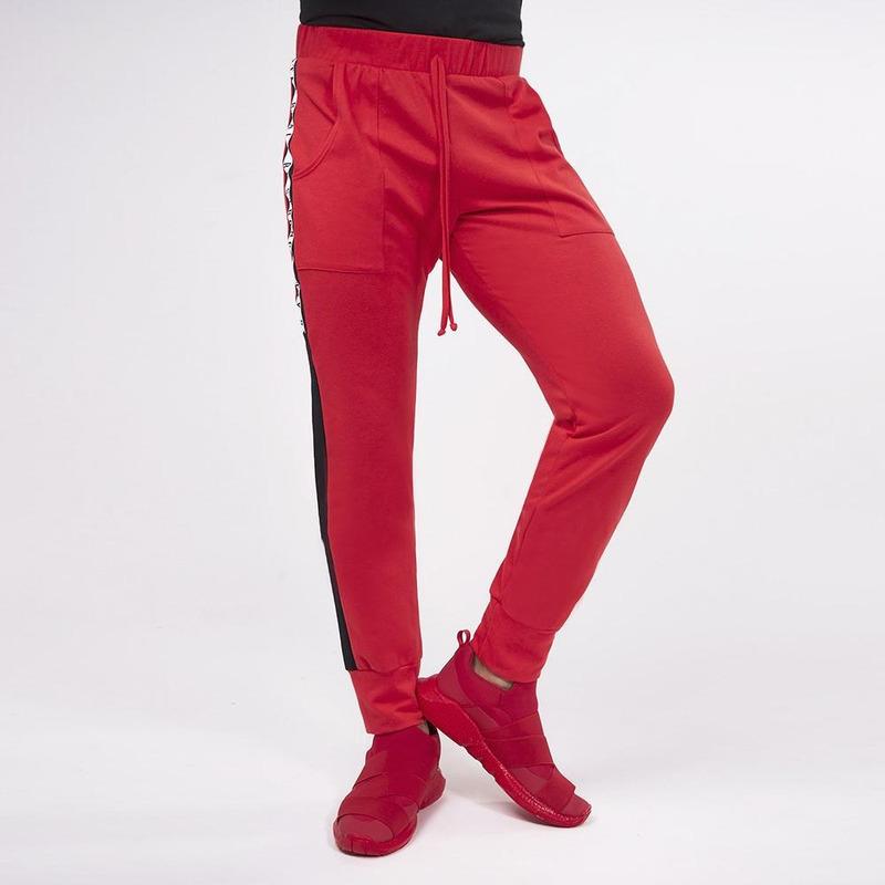 Pantalón Rojo Con Línea Negra 019308