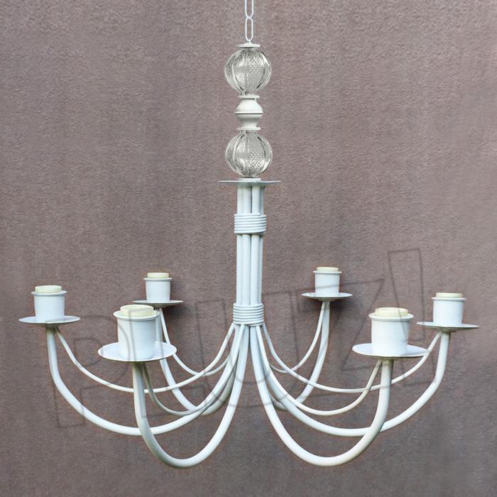 Lámpara Colgante Araña 6 Luces con bochas d...