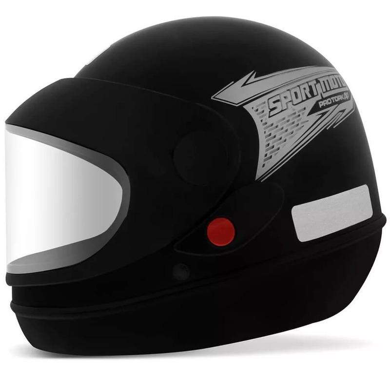 Capacete Pro Tork Sport Moto Preto Fosco