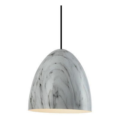 Colgante Merken 1 Luz Apto Led Aluminio Marmol Moderno Cie