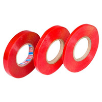 Fita dupla-face incolor com liner vermelho 11 x 50 x 20mm
