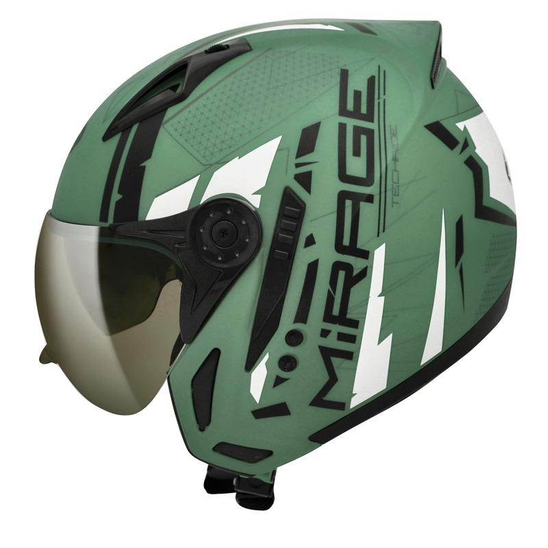 Capacete Peels Mirage Techride Verde Fosco