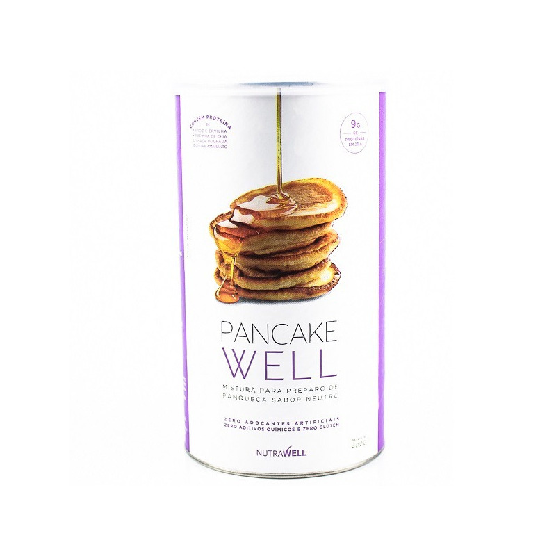Panqueca Pancake Well 400g - Sabor Neutro - Nutrawell