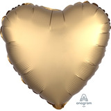 globo corazon dorado satin 45cm desinflado