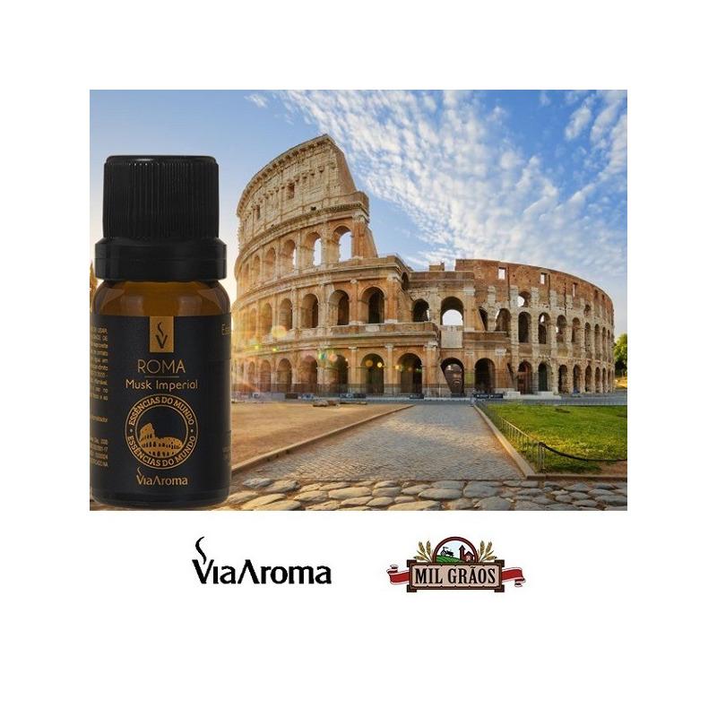 Essencia Cidades do Mundo - Roma - Musk 10ml Via Aroma