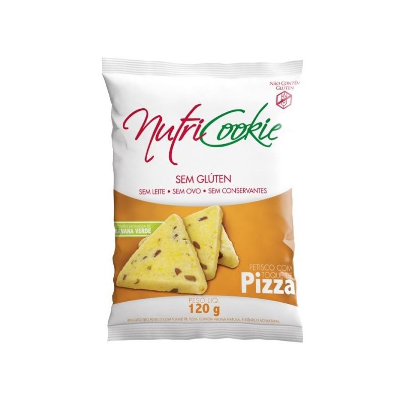 Petisco NutriCookie Pizza Sem Gluten - 120g - Nutripleno