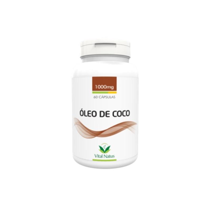 Oleo de Coco - 60 Capsulas de 1000mg - Vital Natus