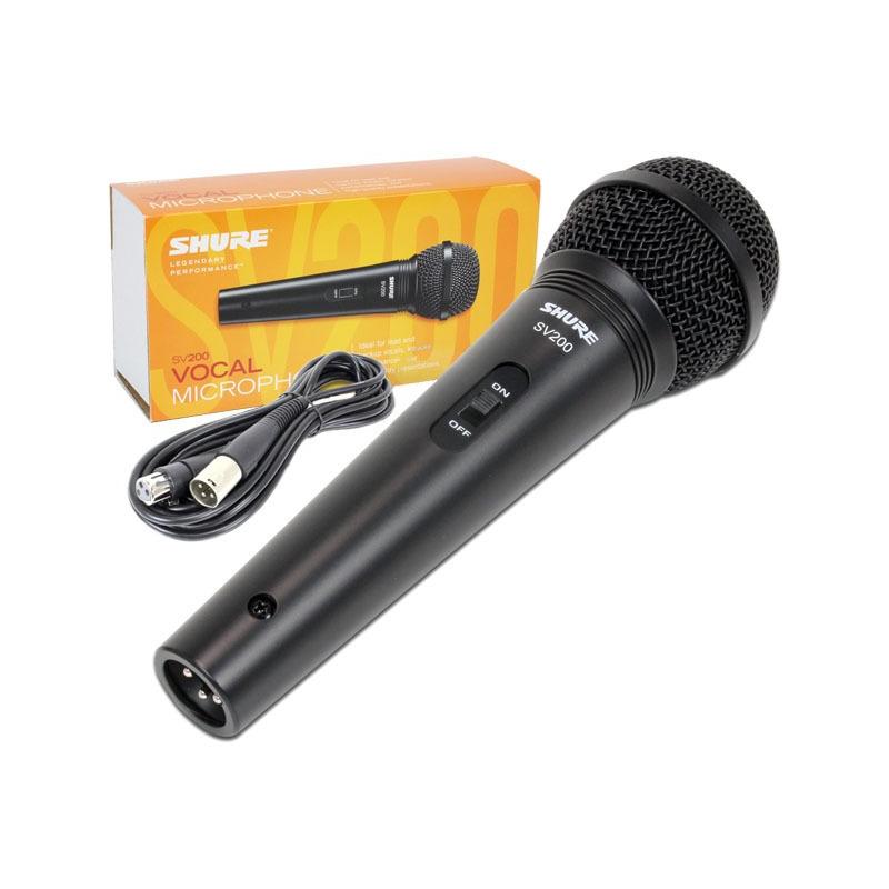 Microfone Cardióide SV 200 com cabo XLR-XLR Shure Original